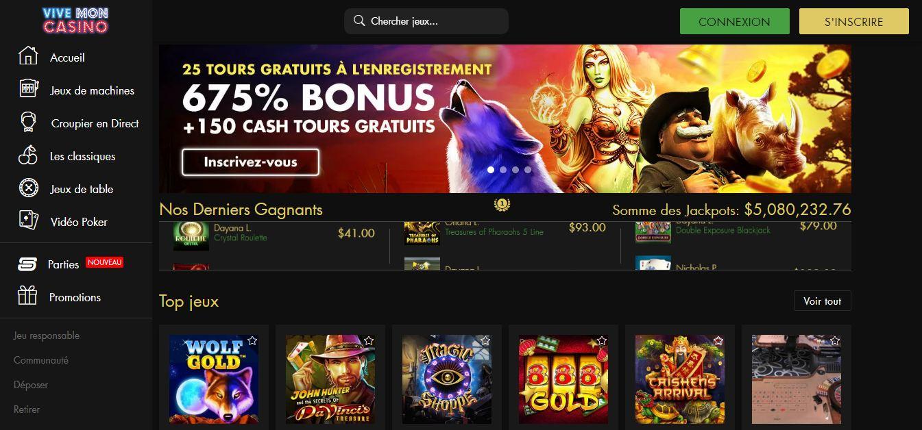 Test Casino vive mon casino